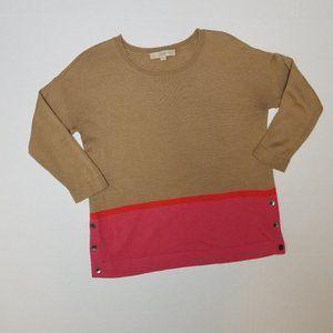 Ann Taylor LOFT Knit Color Block Sweater Size M